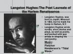 langston hughes the poet laureate of the harlem renaissance