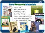 free resource materials