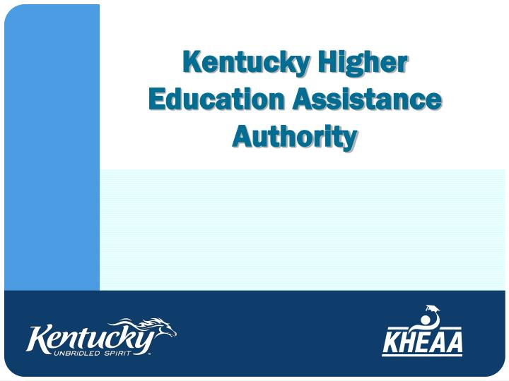 kentucky higher education assistance authority n.