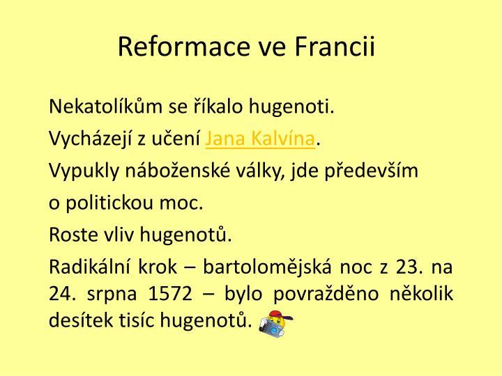 Reformace ve francii