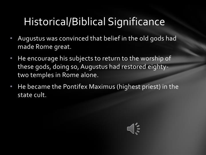 Historical biblical significance