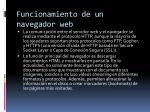 funcionamiento de un navegador web