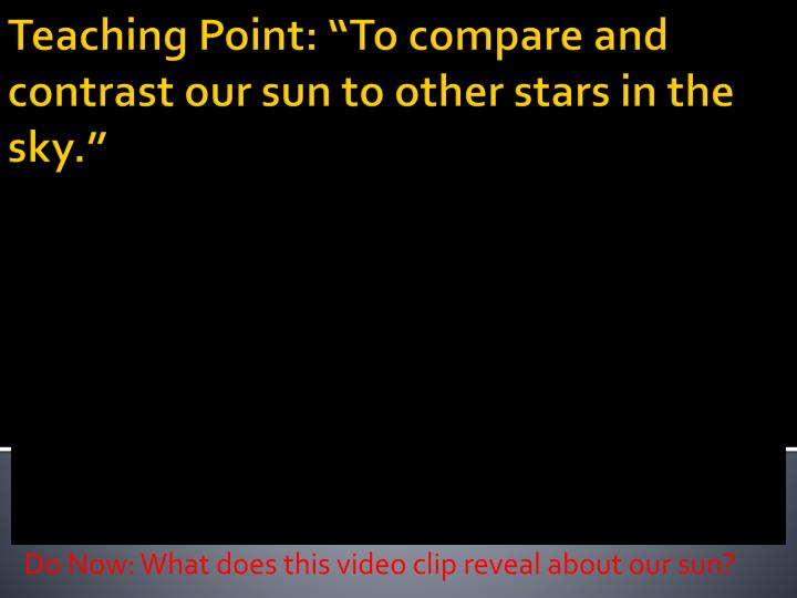 do now what does this video clip reveal about our sun n.