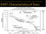 tp to compare and contrast our sun to other stars in the sky esrt characteristics of star s