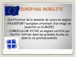 europass mobilite