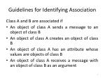guidelines for identifying association