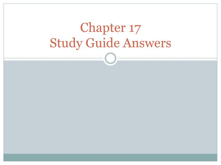chapter 17 study guide answers n.
