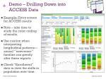 demo drilling down into access data