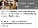 families need help