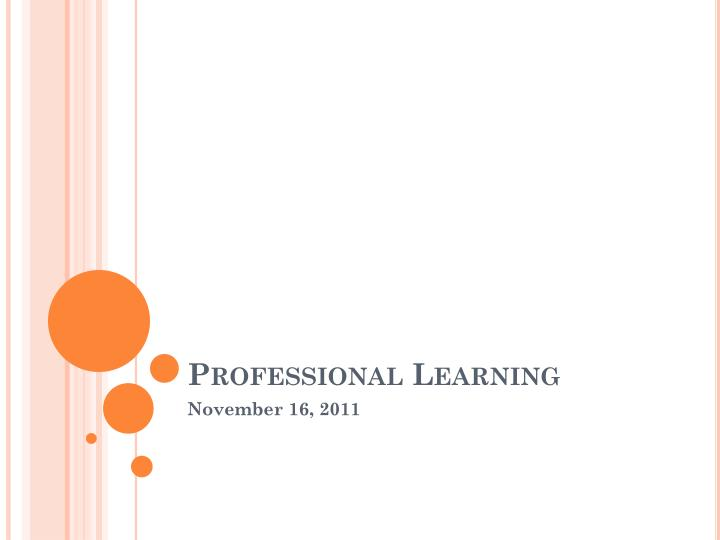 professional learning n.