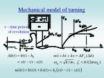 mechanical model of turning