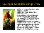 giuseppe garibaldi brings unity