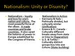 nationalism unity or disunity
