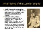 the breakup of the austrian empire