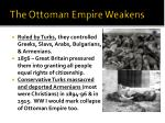 the ottoman empire weakens
