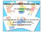 l mina de verbos regulares iii