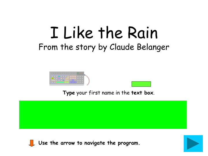 i like the rain from the story by claude belanger n.