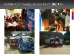 mobile community access point mcap