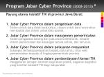 program jabar cyber province 2008 2013