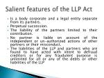 s alient features of the llp act