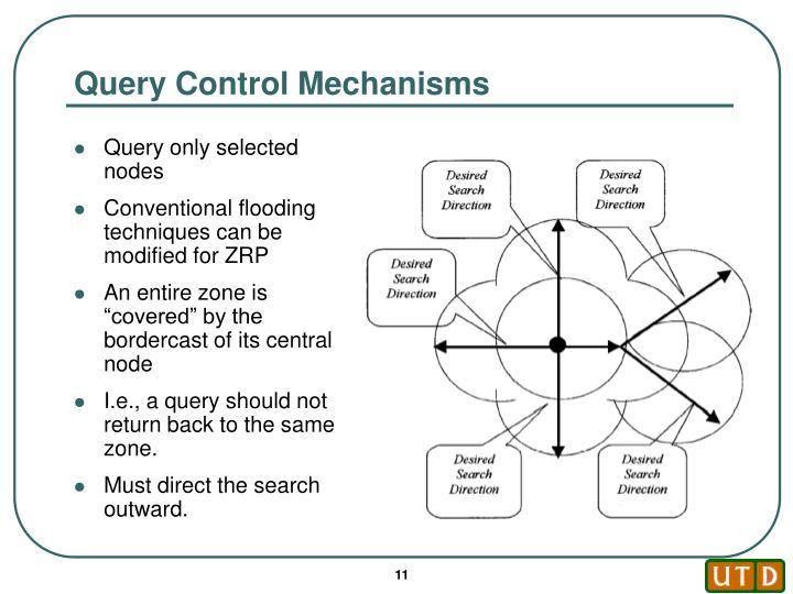Query Control Mechanisms