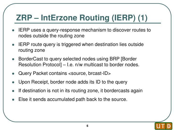 ZRP – IntErzone Routing (IERP) (1)