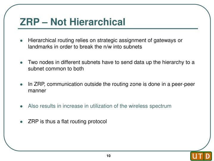 ZRP – Not Hierarchical