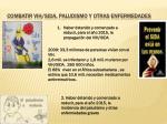 combatir vih sida paludismo y otras enfermedades