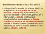 organismos internacionales de salud