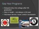 gap year programs
