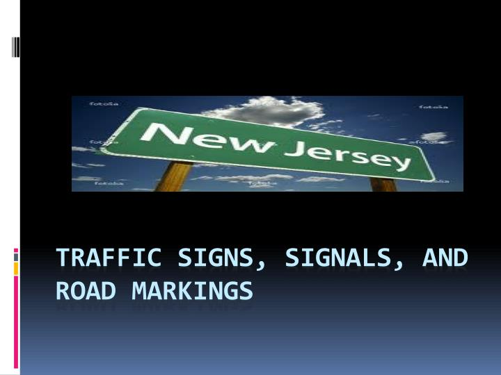 traffic signs signals and road markings n.