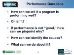 performance questions