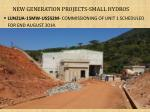 new generation projects small hydros1