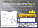 overview of biostatistical methods11