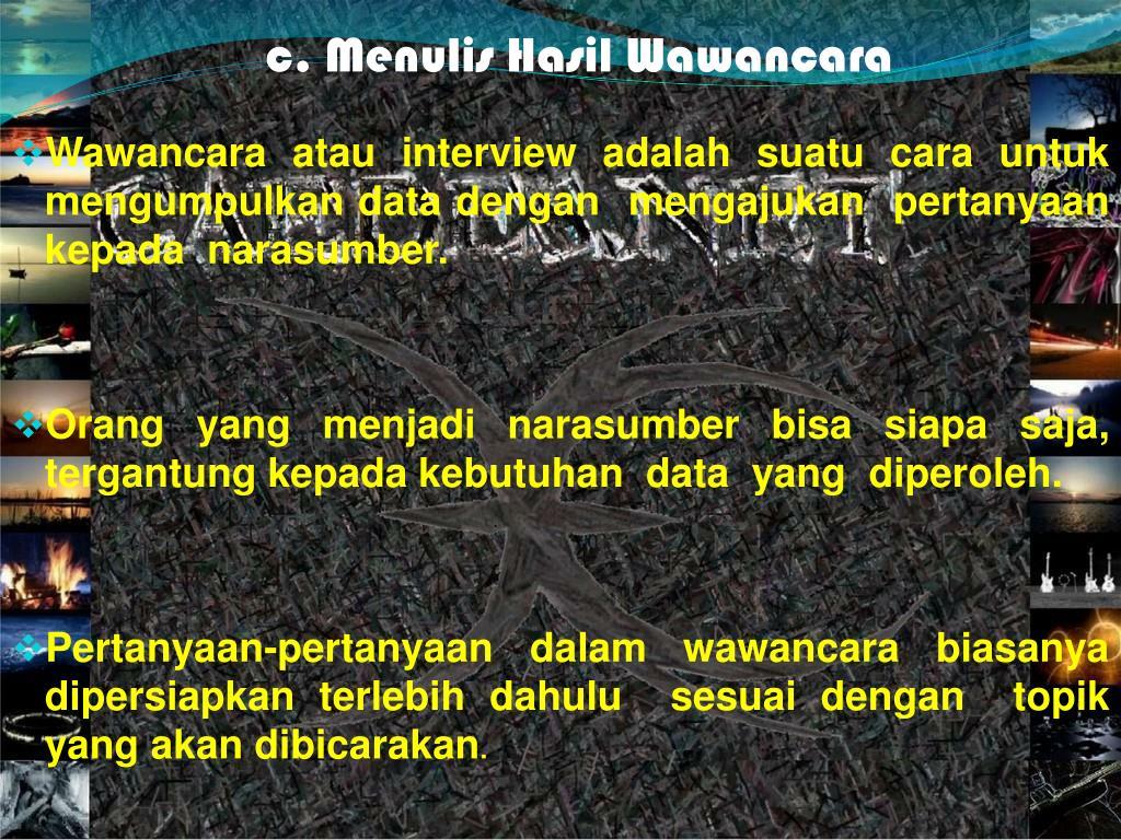 ppt menulis wawancara powerpoint