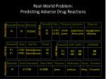 real world problem predicting adverse drug reactions