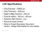 loc specifications