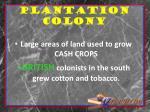 plantation colony