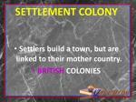 settlement colony
