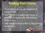 trading post colony
