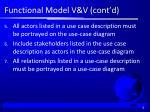 functional model v v cont d