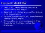 functional model v v