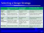 selecting a design strategy1