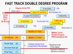 fast track double degree program