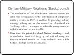 civilian military relations background1