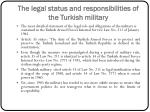 the legal status and responsibilities of the turkish military