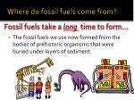 where do fossil fuels come from