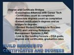 build bridges to certificates and degrees1