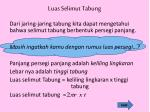 luas selimut tabung
