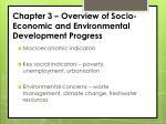 chapter 3 overview of socio economic and environmental development progress
